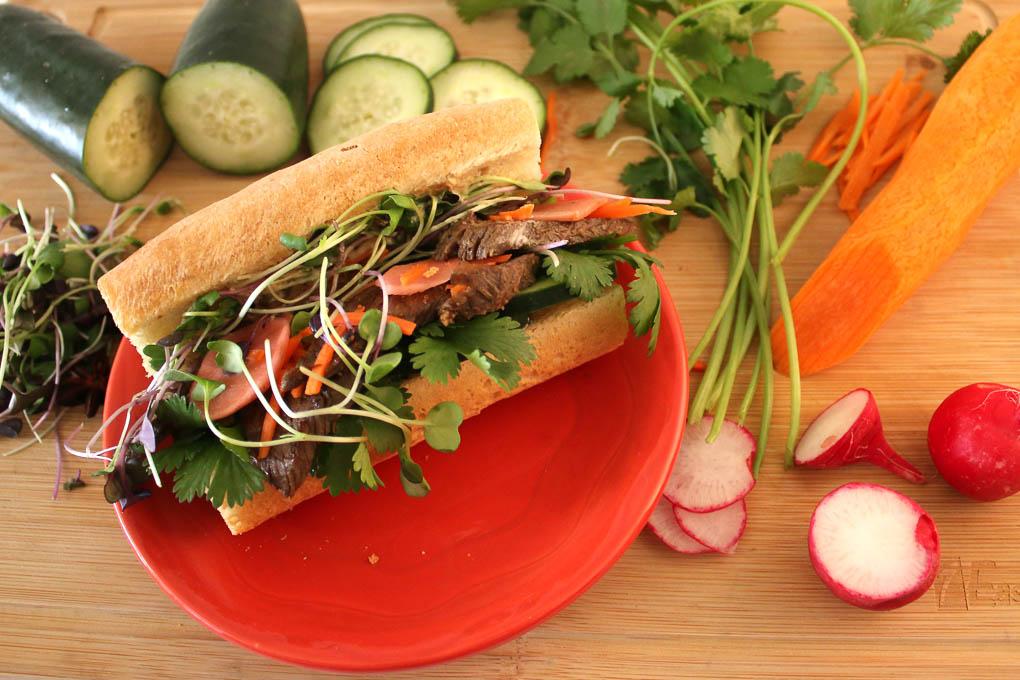 Display a deli sandwich